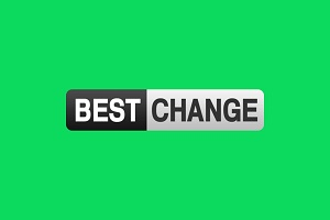 Надпись Bestchange на зеленом фоне